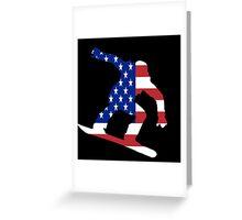 Snowboard USA Greeting Card