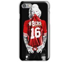 Marilyn Monroe For San Francisco 49ers iPhone Case/Skin
