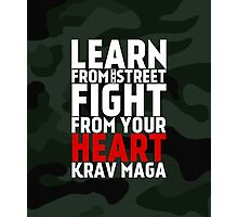 Learn From The Street Krav Maga - Camouflage Photographic Print