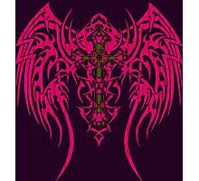 TRIBAL WING CROSS PINK Photographic Print
