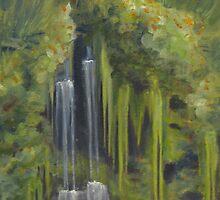 Opposite Middle Falls by karen pankow