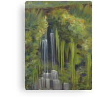 Opposite Middle Falls Canvas Print