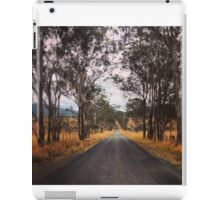 A tree lined rural road iPad Case/Skin