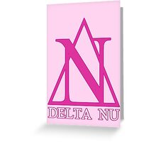 Delta Nu Greeting Card