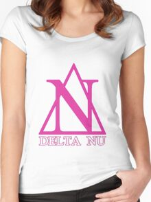Delta Nu Women's Fitted Scoop T-Shirt