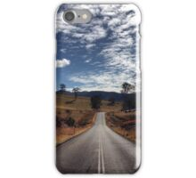 A beautiful country road and cloudscape iPhone Case/Skin