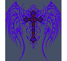 TRIBAL WING CROSS MIDNIGHT  Photographic Print