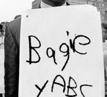 bagie yabs protest Sticker
