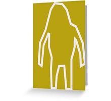 Abstract Bigfoot Greeting Card