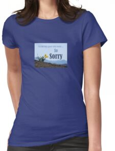 So Sorry Card With Daffodils Womens Fitted T-Shirt