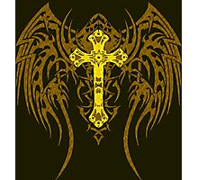 TRIBAL WING CROSS GOLD Photographic Print