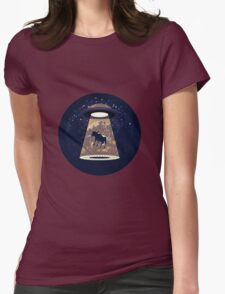 Beware UFO II Womens Fitted T-Shirt