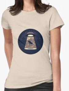 Beware UFO II Womens Fitted T-Shirt