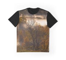 Rays Through The Autumn Valley Graphic T-Shirt