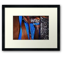 Riding Tack Framed Print