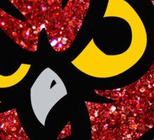 Temple Glitter Owl Sticker