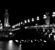 Pont Alexandre 3 (Black and White) by Mathieu Longvert