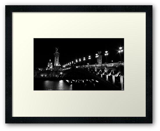 Pont Alexandre 3 (Black and White) by Mathieu Longvert