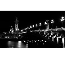 Pont Alexandre 3 (Black and White) Photographic Print