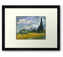 Vincent Van Gogh - Wheatfield with Cypresses Framed Print