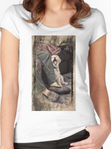 Morning Yawn Women's Fitted Scoop T-Shirt