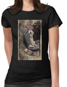 Morning Yawn Womens Fitted T-Shirt