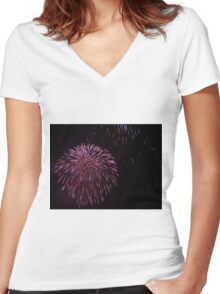 Beautiful Explosion Women's Fitted V-Neck T-Shirt