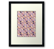 Triangle Labyrinth  Framed Print