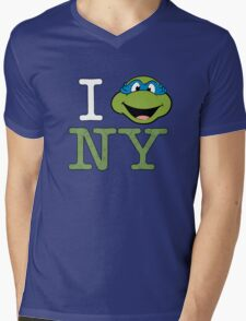New York Leo Mens V-Neck T-Shirt