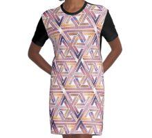 Triangle Labyrinth  Graphic T-Shirt Dress