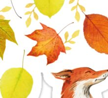 Fall Fox Sticker