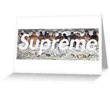 Kanye West x Supreme box logo Greeting Card