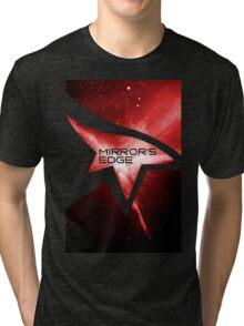 Mirror's Edge Minimalist Nebula Design Tri-blend T-Shirt