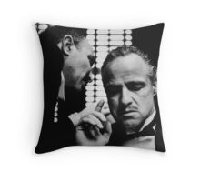 The Godfather Movie- Don Corleone Day of My Daughters Wedding Throw Pillow