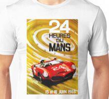 DU MANS GRAND PRIX; Vintage Auto Racing Print Unisex T-Shirt
