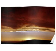 Underneath Stormclouds: Sunset at Fish River Canyon Poster