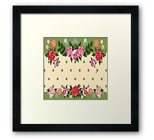 Roses and Dots Framed Print