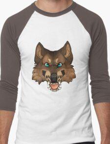 Werewolf Head Men's Baseball ¾ T-Shirt