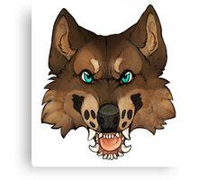Werewolf Head Canvas Print