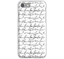 Vintage simple black white typography pattern  iPhone Case/Skin