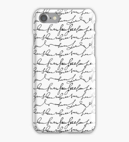 Vintage simple black white typography pattern  iPhone Case/Skin
