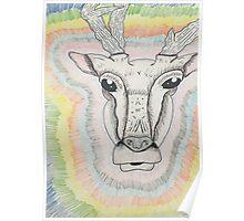 Trippy Deer Poster