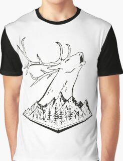 Calling Elk Graphic T-Shirt