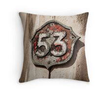 Rustic Fifty-Three Throw Pillow