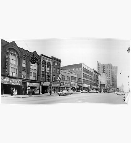 East Federal Street - Downtown Youngstown, 1960s - Rocky's Poster