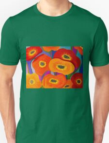 Happy Orange Poppies Unisex T-Shirt
