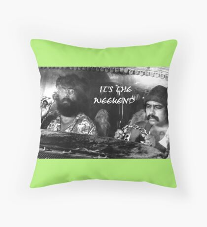 Up In Smoke Tribute Cheech and Chong Throw Pillow
