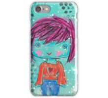 Crayon Girl iPhone Case/Skin