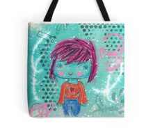 Crayon Girl Tote Bag