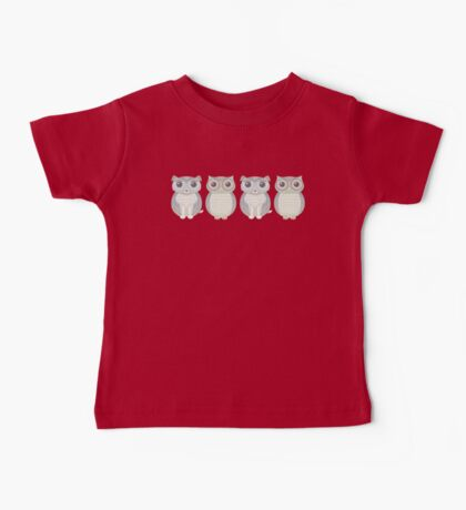 Double Dogs and Owls Blue Baby Tee